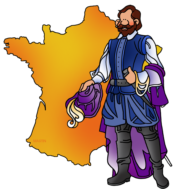 Champlain and Map of France