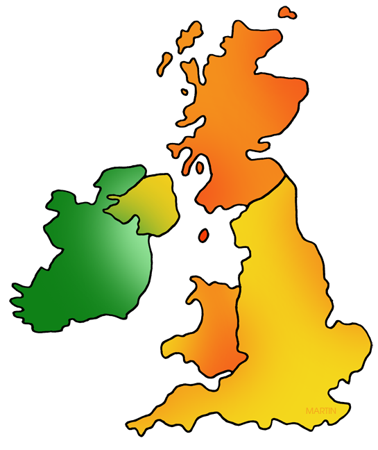 Great Britain and Ireland Map
